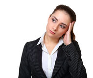 Business woman with face expression Royalty Free Stock Photography