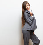 Business woman fashion style  portrait. Female model st Royalty Free Stock Photo