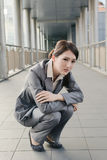 Business woman feel sad Royalty Free Stock Photography