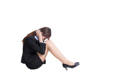 Business woman feel unhappy Stock Photography