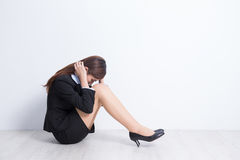 Business woman feel unhappy Stock Image