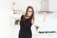 Business woman feeling motivated Stock Images