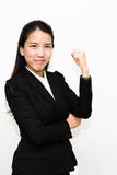 Business woman fighting Stock Photography