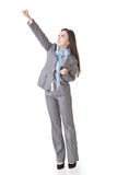Business woman fighting Royalty Free Stock Photos