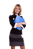 Business woman with files. Stock Photography