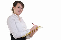 Business woman filling forms Stock Photography