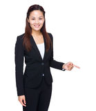 Business woman finger point down Stock Photography