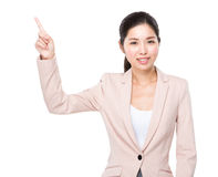 Business woman finger point up Royalty Free Stock Photos