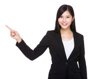 Business woman with finger point up Stock Photo