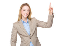 Business woman finger point up Royalty Free Stock Photo