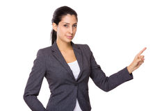 Business woman with finger point up Royalty Free Stock Photography