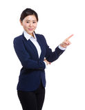Business woman with finger up Royalty Free Stock Photos