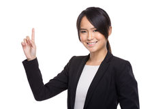 Business woman finger up Stock Image