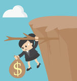 Business woman Fiscal cliff concept Royalty Free Stock Photography