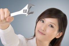Business woman fix Stock Photos