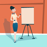 Business Woman With Flip Chart Seminar Training Conference Brainstorming Presentation Royalty Free Stock Photos