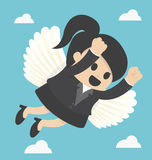 Business Woman flying freedom Royalty Free Stock Photography