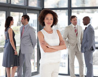 Business woman with Folded arms  Business team Royalty Free Stock Photo