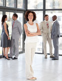 Business woman with Folded arms Business team Royalty Free Stock Image