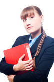 Business woman with folder Stock Images