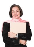 Business woman with folder 2 Royalty Free Stock Photo