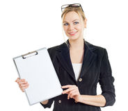Business woman with folder Stock Image