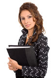Business woman with a folder Stock Image