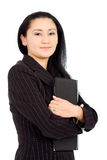 Business woman with a folder Royalty Free Stock Photography