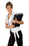 Business woman with a folder Stock Photos
