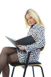 Business woman with folder Royalty Free Stock Image