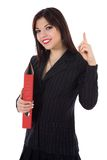 Business woman with folder Royalty Free Stock Images