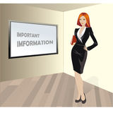 Business woman with a folder in his hands, a place for an inscri Royalty Free Stock Images