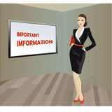 Business woman with a folder in his hands, a place for an inscri Royalty Free Stock Photos
