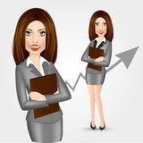 Business woman with folder Stock Photo