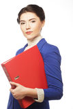 Business woman with  folders. Stock Images