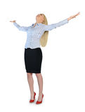 Business woman freedom concept Stock Photography