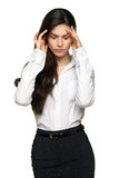 Business woman frustrated and stressed Royalty Free Stock Photography