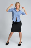 Business woman full body portrait Stock Photo