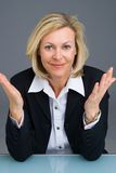 Business woman gesturing Stock Photo