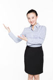 Business woman gesturing showing Royalty Free Stock Photos