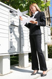 Business Woman Getting Mail Stock Photos
