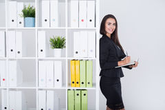 Business woman getting ready to meeting Royalty Free Stock Photo