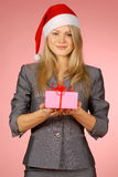 Business-woman & gifts Royalty Free Stock Photography