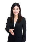 Business woman give handshake Royalty Free Stock Images