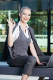 Business woman give you an Ok sign Royalty Free Stock Photography