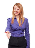 Business woman giving her hand for a handshake Stock Photo