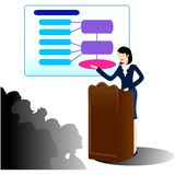 Business woman giving a presentation vector illustration