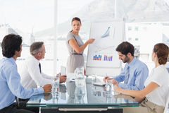 Business woman giving a presentation Royalty Free Stock Photos