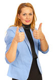Business woman giving thumbs Royalty Free Stock Photo