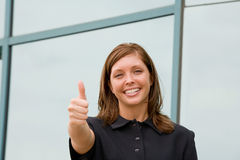 Business Woman Giving a Thumbs Up Royalty Free Stock Photo